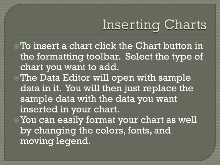Inserting Charts