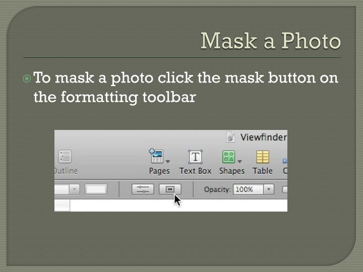 Mask a Photo