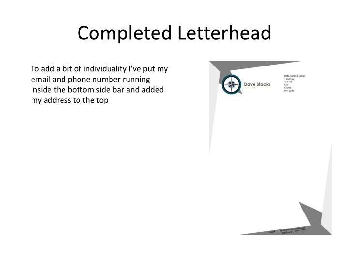 Completed Letterhead
