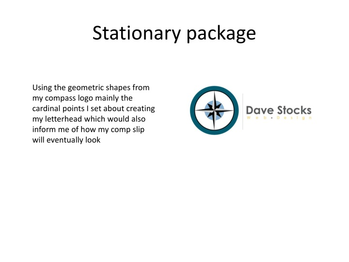 Stationary package
