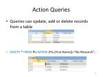 action queries