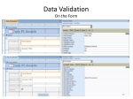 data validation on the form