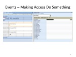 events making access do something