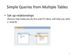 simple queries from multiple tables