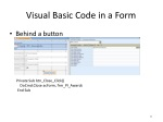 visual basic code in a form
