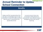 annual reminder to update school connection1