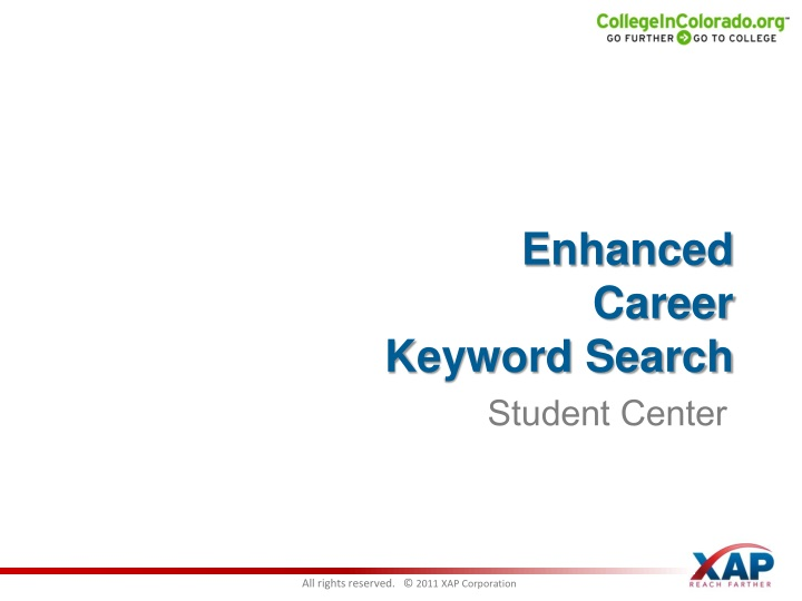 Enhanced Career     Keyword Search