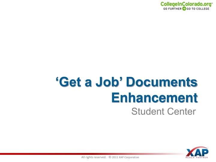 'Get a Job' Documents