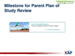 milestone for parent plan of study review