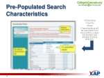 pre populated search characteristics