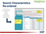 search characteristics re ordered
