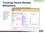 tracking parent review milestones