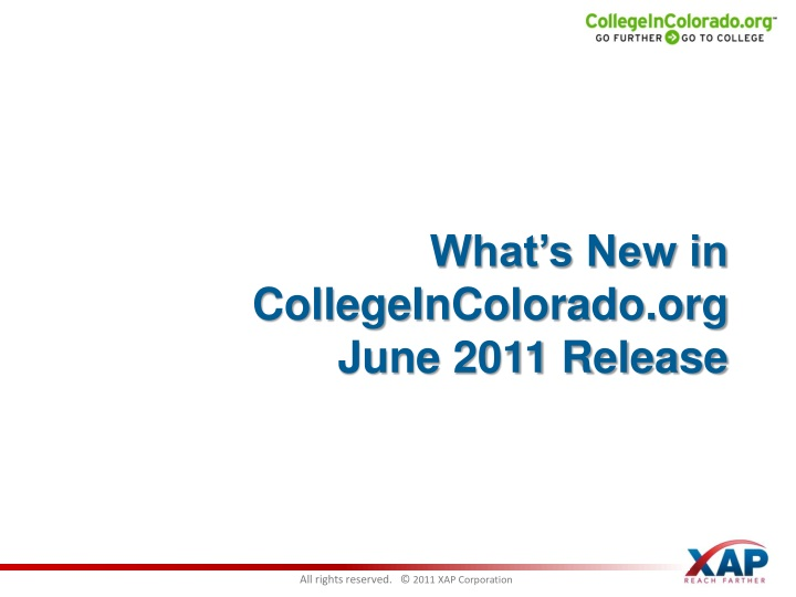 What s new in collegeincolorado org june 2011 release