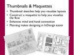 thumbnails maquettes