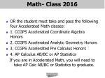 math class 20161