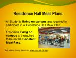 residence hall meal plans