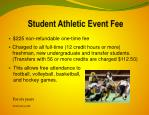 student athletic event fee