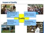 impact of quality