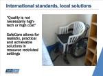 international standards local solutions
