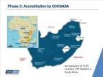 phase 3 accreditation by cohsasa