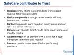 safecare contributes to trust