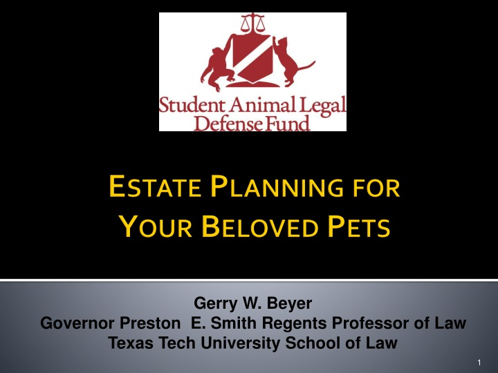 Estate planning for your beloved pets