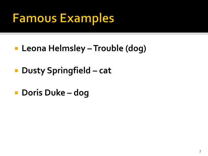 Famous Examples