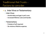 traditional pet trusts factors to consider