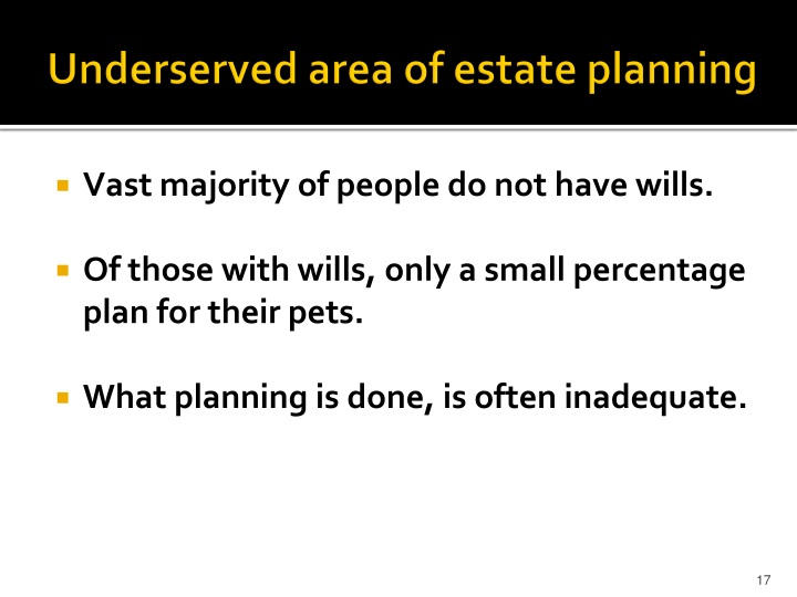 Underserved area of estate planning
