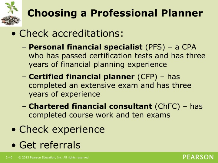 Choosing a Professional Planner