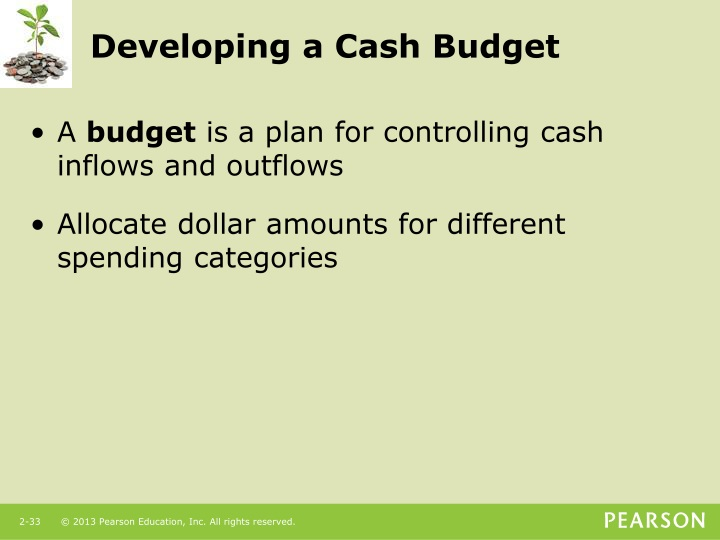 Developing a Cash Budget