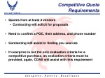 competitive quote requirements