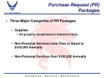 purchase request pr packages