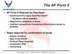 the af form 9
