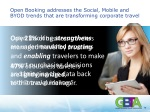 open booking addresses the social mobile and byod trends that are transforming corporate travel