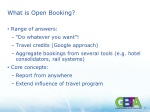 what is open booking