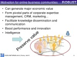 motivation for online business communities