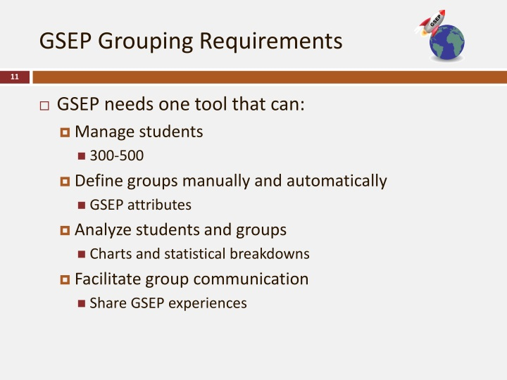 GSEP Grouping