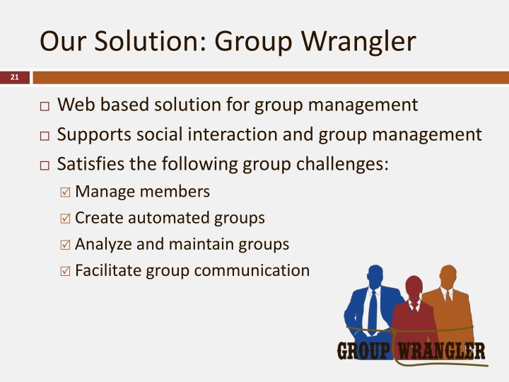 Our Solution: Group Wrangler