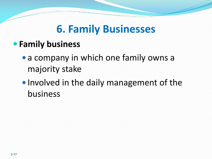 6. Family Businesses