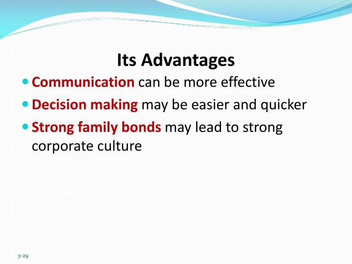 Its Advantages