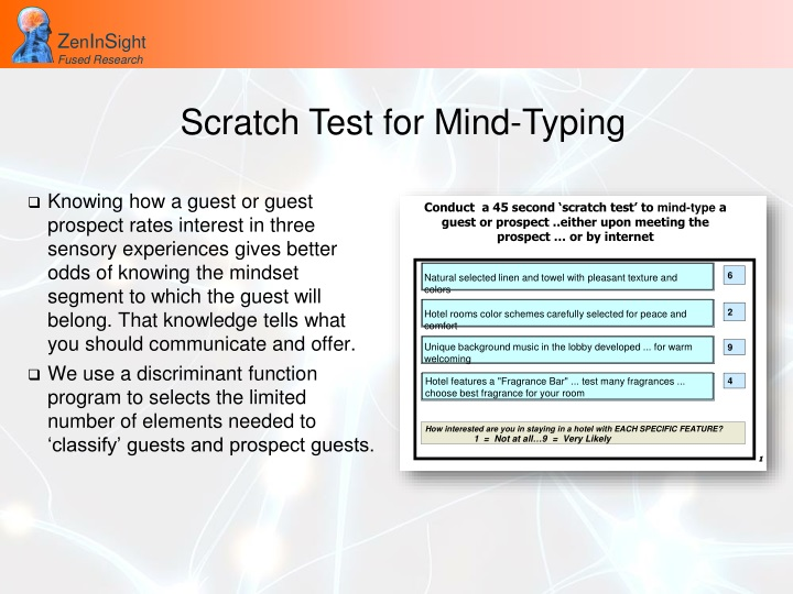 Scratch Test for Mind-Typing