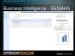 business intelligence sesiahs