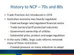 history to ncp 70s and 80s