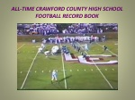 all time crawford county high school football record book