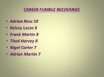 career fumble recoveries