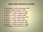 most yard passing in a game