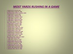 most yards rushing in a game
