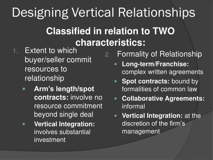Designing Vertical Relationships