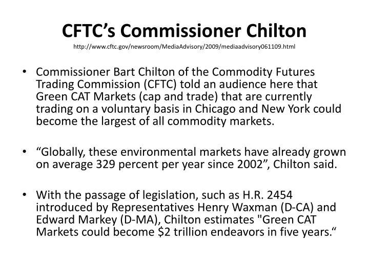 CFTC's Commissioner Chilton